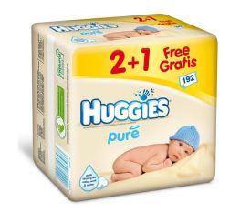 Huggies beebisalvrätid Pure Triplo 1+2pakki 3x64tk