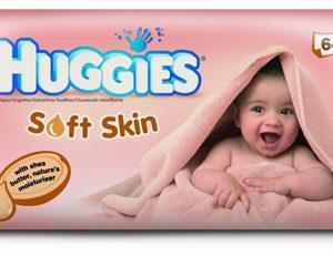 Huggies Soft Skin beebisalvrätid 64tk