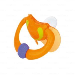 Nuby ortotondiline silikoon rõngaslutt TRENDS 0-6kuud oranz