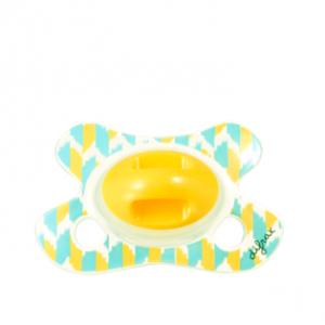 Silikoonlutt dental -2/+2 sinine/kollane leht rõngata (Difrax)