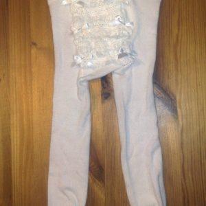 Pidulikud sukkpüksid Valge pitsid/lipsud Lollico 74-86cm N1