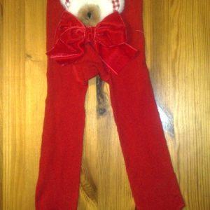 Pidulikud sukkpüksid Punased mõmmiga Lollico 74-86cm N1