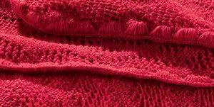 Disana meriinovillast tekk 80×100 cm, punane