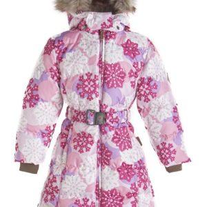Tüdrukute sulemantel (1202BW14) 703-roosa mustriga YASMINE (110-122cm) Huppa Vali suurus!!!