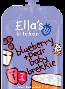 Mustikas-pirni hommikupüree 6x100g (1tuub-1,69eur)Ella`s Kitchen 6.kuust