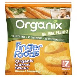 Organix orgaanilised krõbedad porgandipulgad 20g (8 pakki) 7.kuust (1pakk-1,61eur)