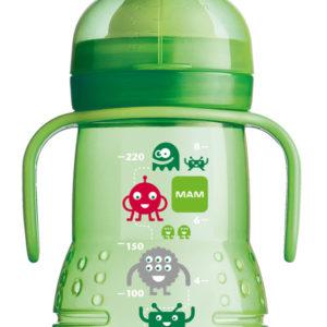 MAM Trainer joogipudel 220ml roheline Multika tegelased 6+kuud