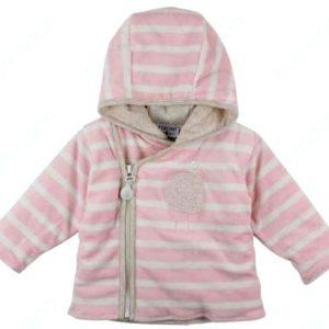 Jakk beebile Fixoni roosa/valge triip 62cm 3kuud