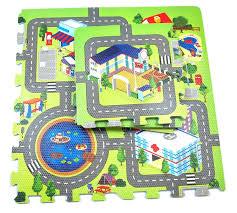 Puzzle matt Linnaliiklus 9tk 1tk-32x32cm