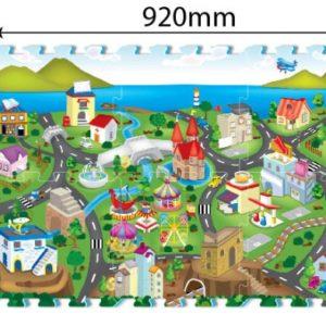 Puzzle matt Linnaliiklus 6tk 1tk-32x32cm