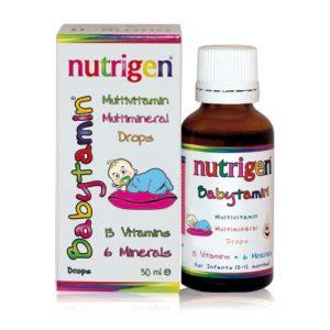 Nutrigen Babytamin vitamiinitilgad beebidele. 0-12kuud