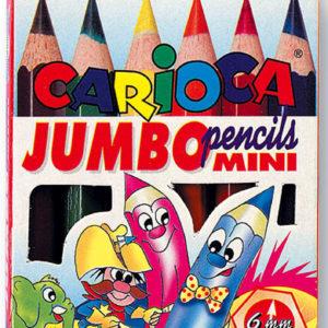Värvipliiatsid CARIOCA JUMBO MINI 6 värvi karbis