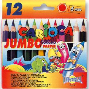 Värvipliiatsid CARIOCA JUMBO MINI 12 värvi karbis 41409
