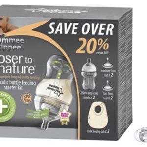 Tommee Tippee® CTN® vastsündinu toitmispakk+ silikoon rõngaslutt 0-3kuud