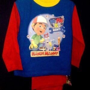 Pidzaama 18/24 kuud lapsele, 92cm Handy Manny sinine/punasega Disney