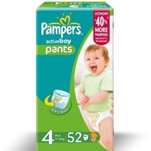 Pampers püksid N4 Boy 9-14kg Jumbo pack Maxi 52tk