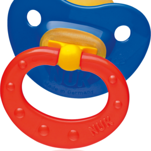 Nuk lateks ortodondiline rõngaslutt Tropic N1 0-6kuud 1tk sinine/punane