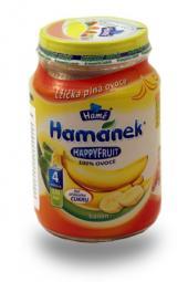 Happy Fruit puuviljapüree banaaniga HAMANEK 6X190g 4.KUUST loodusliku suhkruga,Tšehhi (1TK 0,83eur)