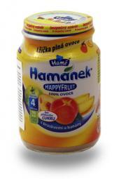 Happy Fruit puuviljapüree virsikuga ja banaaniga HAMANEK 6X190g loodusliku suhkruga,Tšehhi