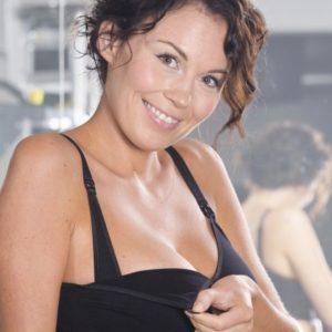 Carriwell polsterdatud avatav imetamise rinnahoidja Must
