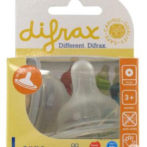 Pudelilutt Large laia kaelaga pudelile 2tk Difrax
