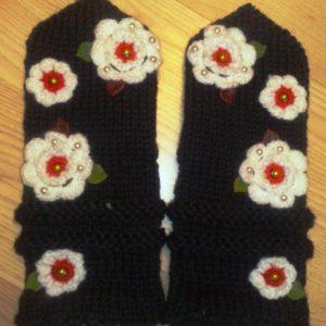 Labakud mustad/lilledega L suurus