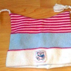 Tüdrukute  müts roosa/helesinisega 43/45cm KASUTATUD!!!