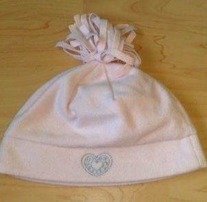 Fliis tüdruku müts tutiga,roosa 50/52cm KASUTATUD!!!