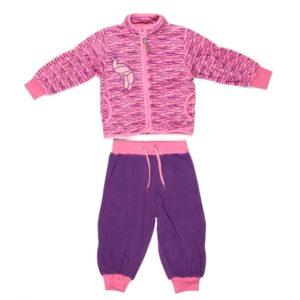 Fliis komplekt KADI 4302CW13 pink pattern/lilac 803 62cm Huppa