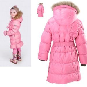 Tüdrukute sulemantel (1202AW11) YASMINE roosa 013 (98-110cm) Huppa