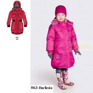 Tüdrukute mantel 1204aw11 JANA punane 004 (152-170cm) Huppa