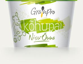 GrainPro Nisu-Õuna Kõhupai (1 karp = 24x40g topsi) 1tops=1,08eur ,6.kuust
