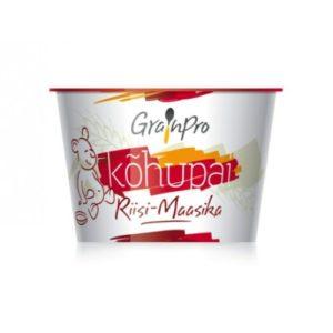 GrainPro Riisi-Maasika Kõhupai (1 karp = 3x40g topsi) 1tops=1.24eur,4.kuust