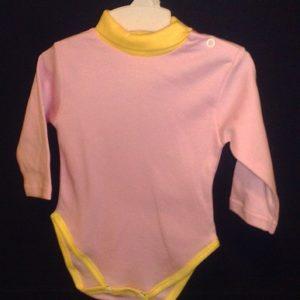 Body kõrge kaelusega,roosa/kollane 80cm