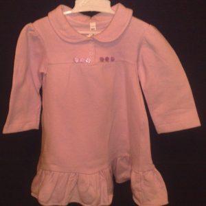 Kleit paksust trikotaazist kraega 86/92cm roosa