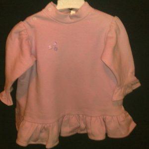 Kleit paksust trikotaazist  86/92cm roosa