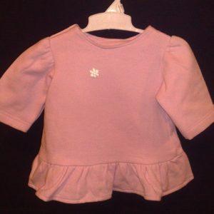 Kleit paksust trikotaazist 74cm roosa