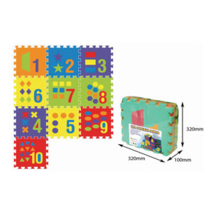 Puzzlematt numbrite ja kujunditega (1matt-32x32cm) pakis 10tk