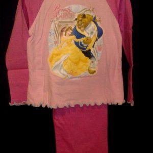 Pidzaama 3/4aastasele lapsele, 104cm Kaunitar ja Koletis h.roosa/t.roosa Disney