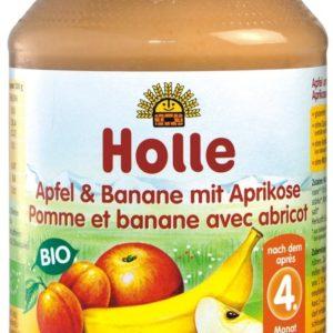 Holle õuna-banaani-aprikoosipüree 2x190g 6.kuust (1purk-1,92)