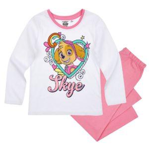 pyjama-long-enfant-fille-la-pat-patrouille-skye-blanc-rose-de-4-a-8ans