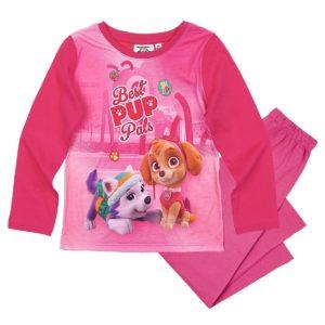 pyjama-long-enfant-fille-la-pat-patrouille-skye-rose-fonce-de-4-a-8ans